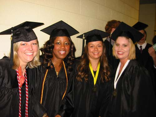 Health Sceinces Students at Spring Commencement, 2012