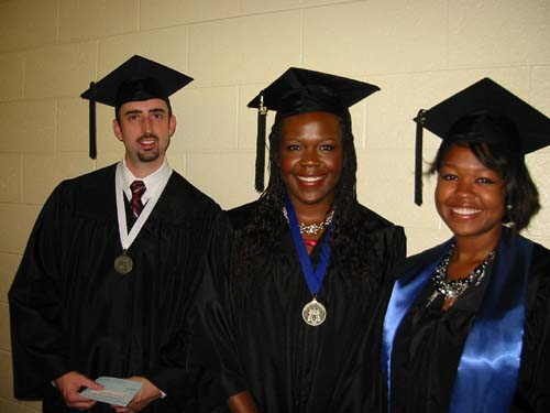 HSCI Students at commencement spring 2012