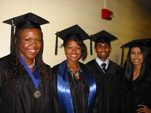 Health Sciences Students At Spring Commencement, 2012