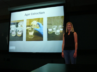 Jane Dean and her presentation