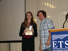 Kristen Roark and her award