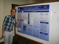 Sean Stacey at his poster presentation