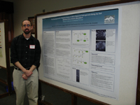 Shawn Hooker at his poster presentation