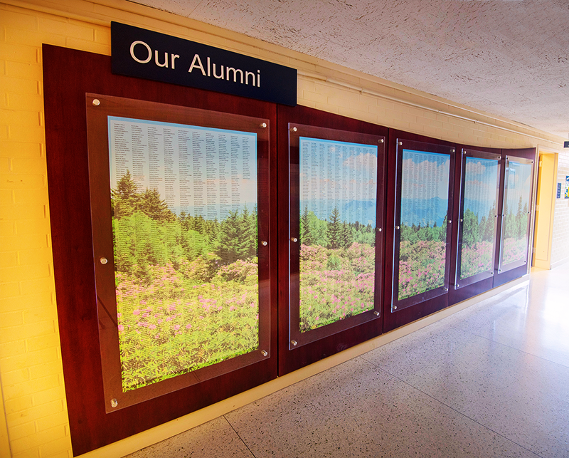 Alumni Wall Side View