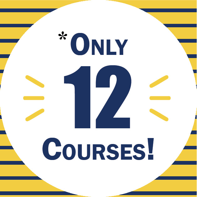 Only 12 courses required at ETSU