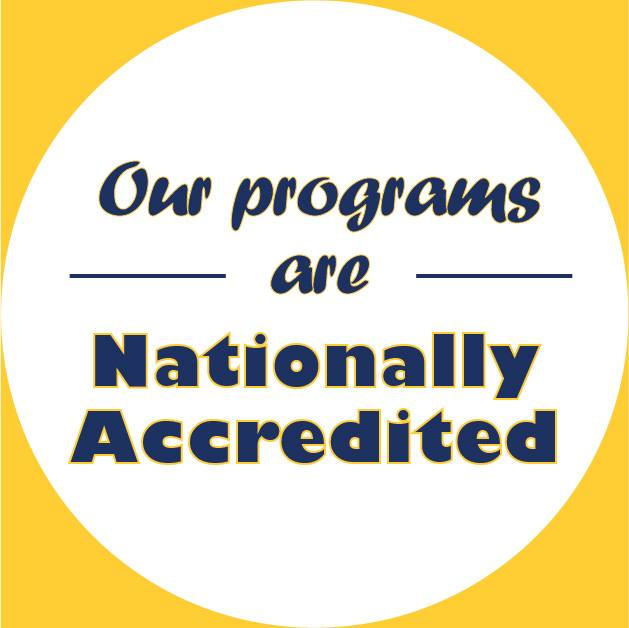 our programs are nationally accredited