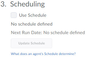image of the agent action schedule options