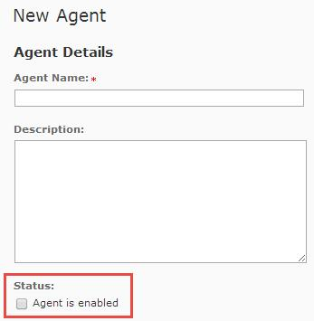 image of new agent screen