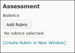 Image of the add rubric button
