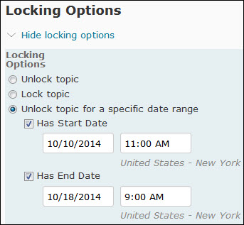 image of the locking date options on the edit topic page