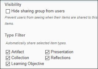 Image of the AutoShare options on the New Sharing Group page.