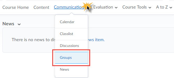 Groups Toolbar