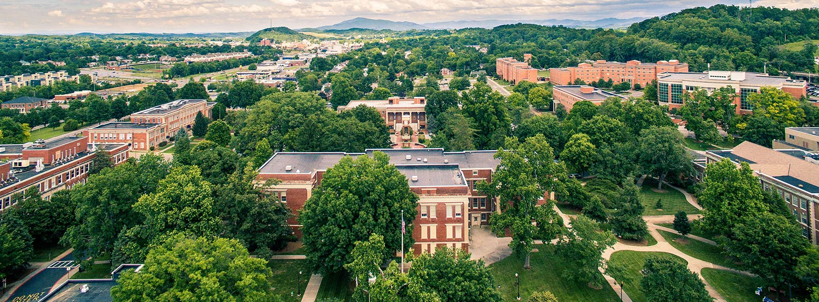 aerial view of ETSU campus