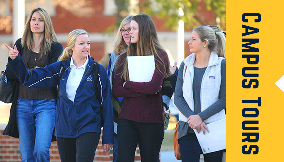 students walking and talking on ETSU campus