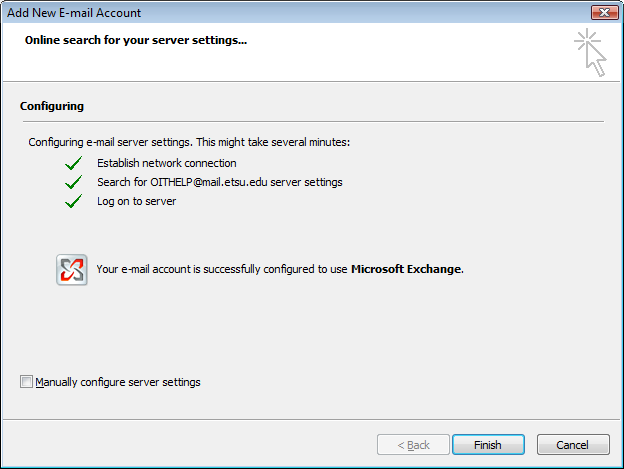 Configuring server settings