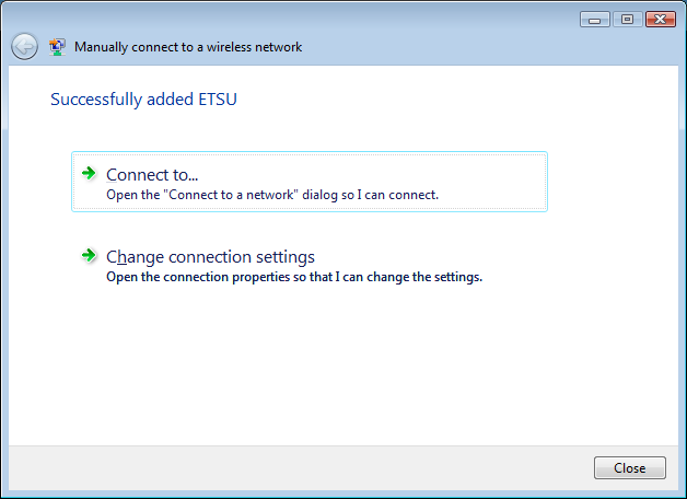 Successfully added ETSUWiFi
