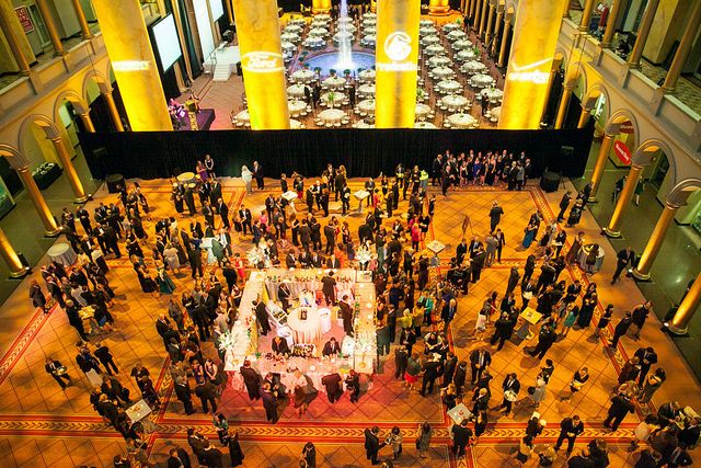 Overhead view of Gala event