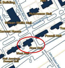 Map of Ross Hall