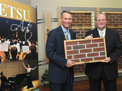 ETSU President Dr. Brian Noland and General Shale CEO Dick Green