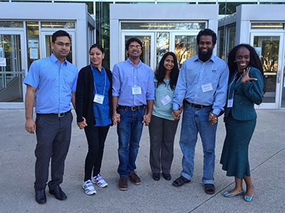 Dr. Aruna Kilaru (third from right) and her students at the Southern Section of the American Society of Plant Biologists meeting
