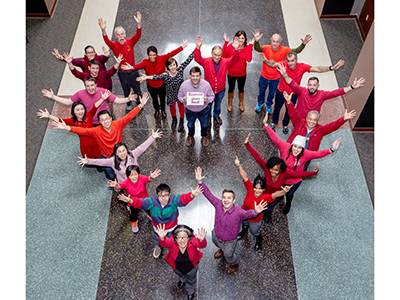 Quillen researchers wear red in honor of the American Heart Association's Go Red day, Feb. 1