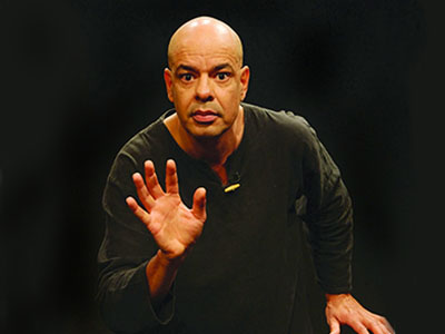 Storyteller Antonio Rocha, publicity photo -- mime pose