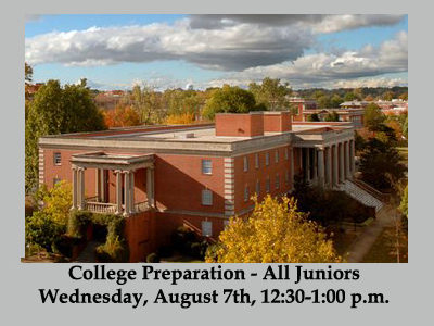 College Preparation Session for All Juniors