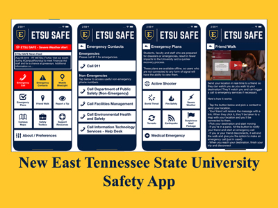 New Safety App - East Tennessee State University