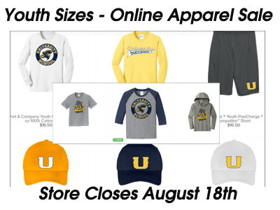 Youth Sizes Added to US Online Apparel Sale - Closing August 18th