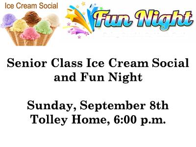 Senior Class Ice Cream Social and Fun Night