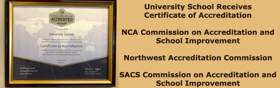University School Receives Certificate of Accreditation