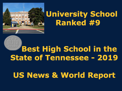 US News and World Report Ranks University School 9th Best High School In Tennessee