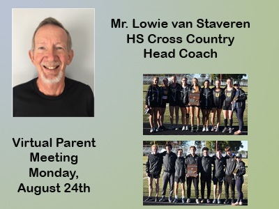 HS Cross Country Welcomes New Coach - Parent Meeting