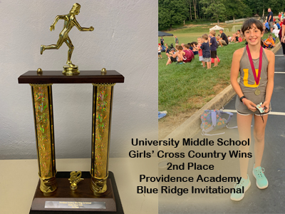 Middle School Cross Country Wins 2nd Place at Invitational