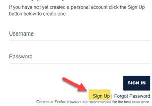 Create your ETSU Application Account