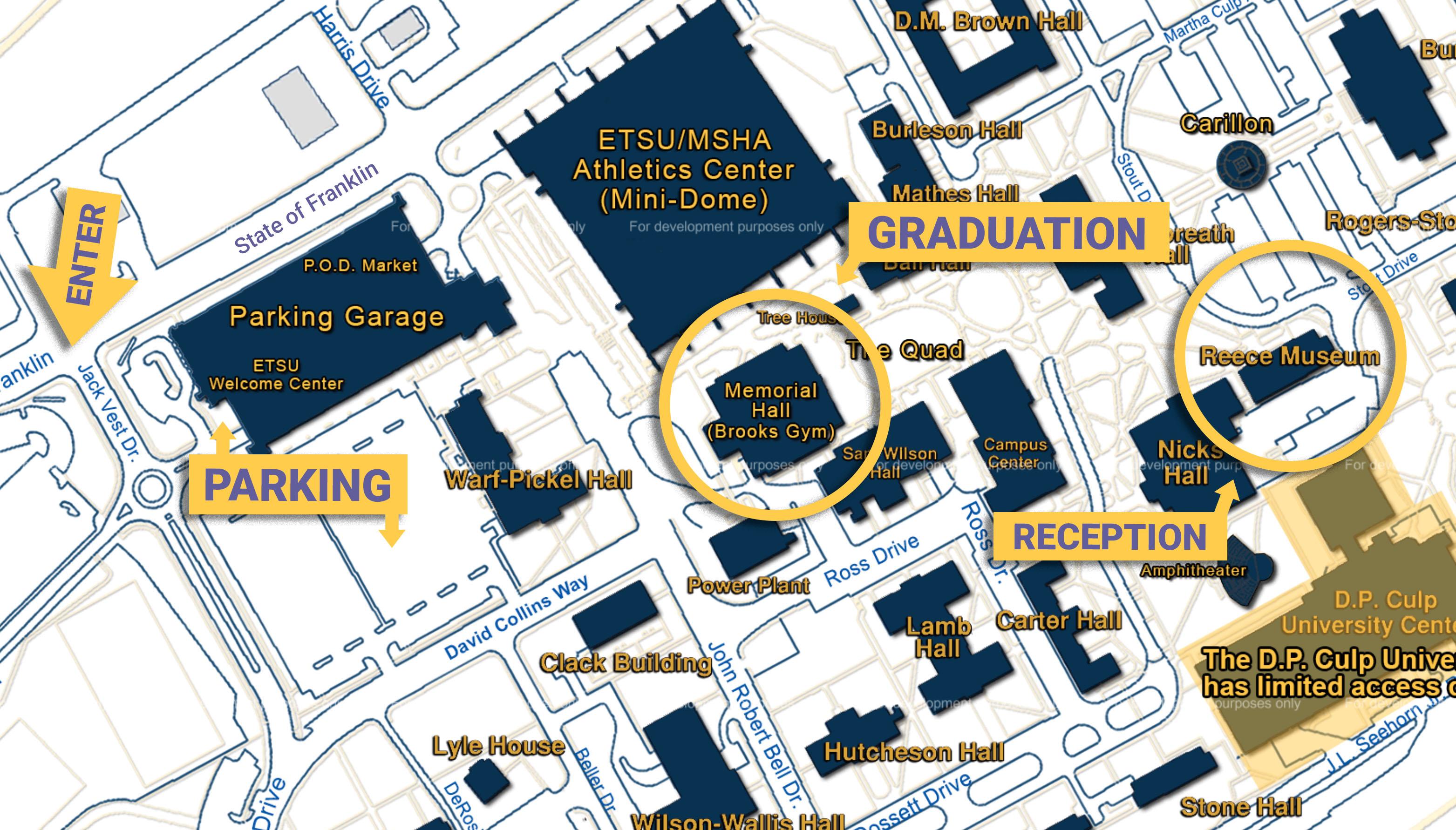 Etsu Campus Map Graduation
