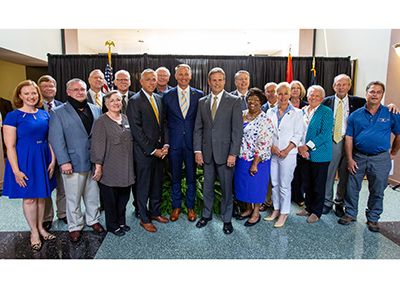 Governor Bill Lee with area officials & leaders