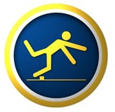 icon of person tripping