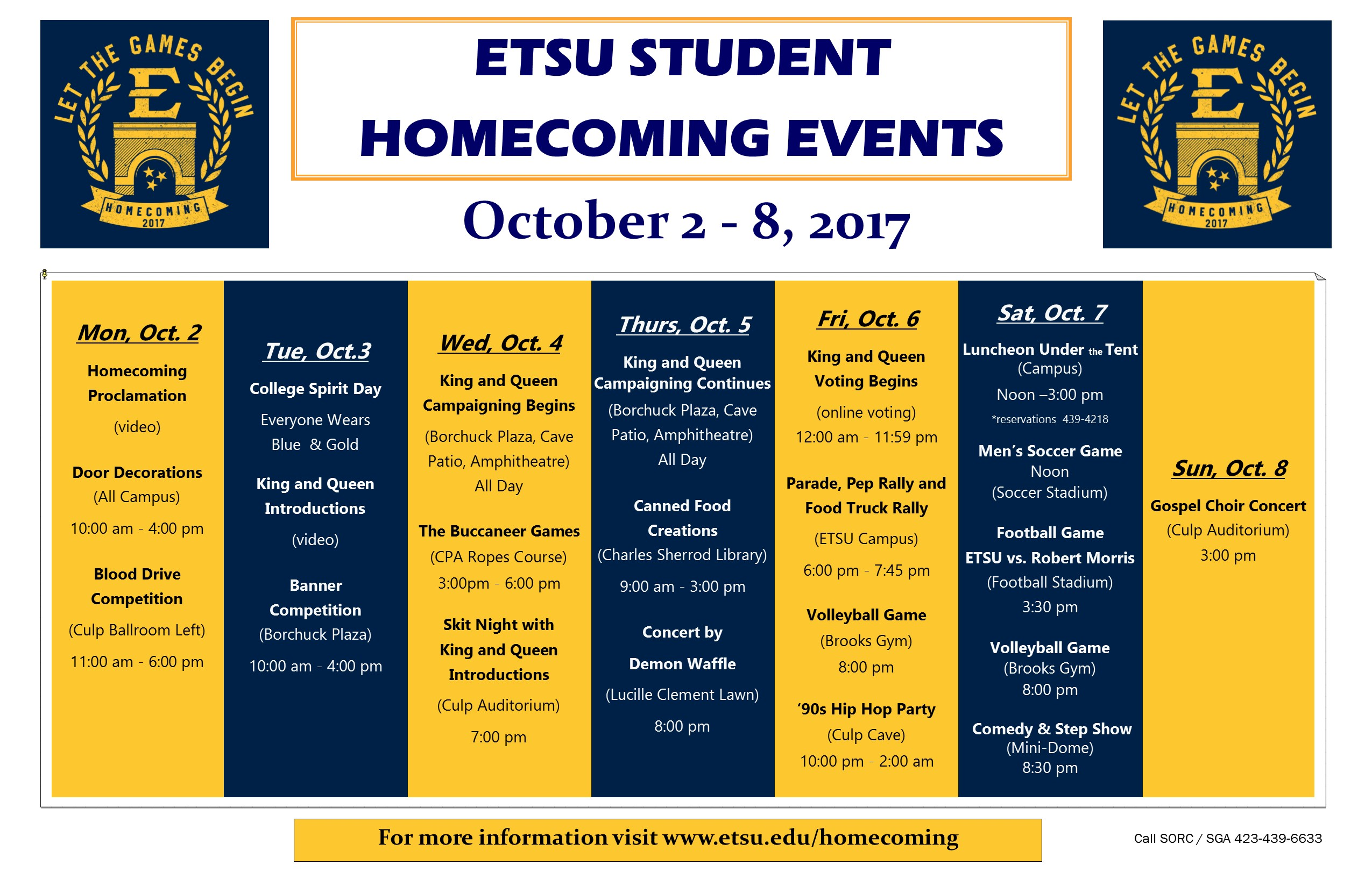 Student Homecoming Events