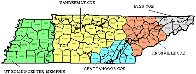 COE Statewide Map