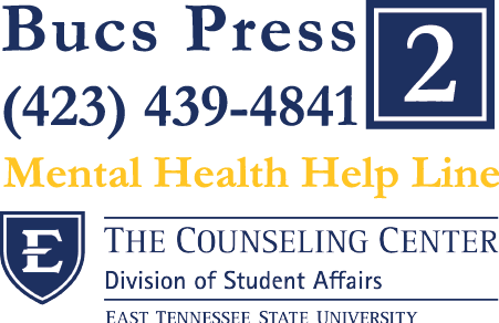 Speak with Counselor 24/7. Dial 423-439-4480 & Press 2