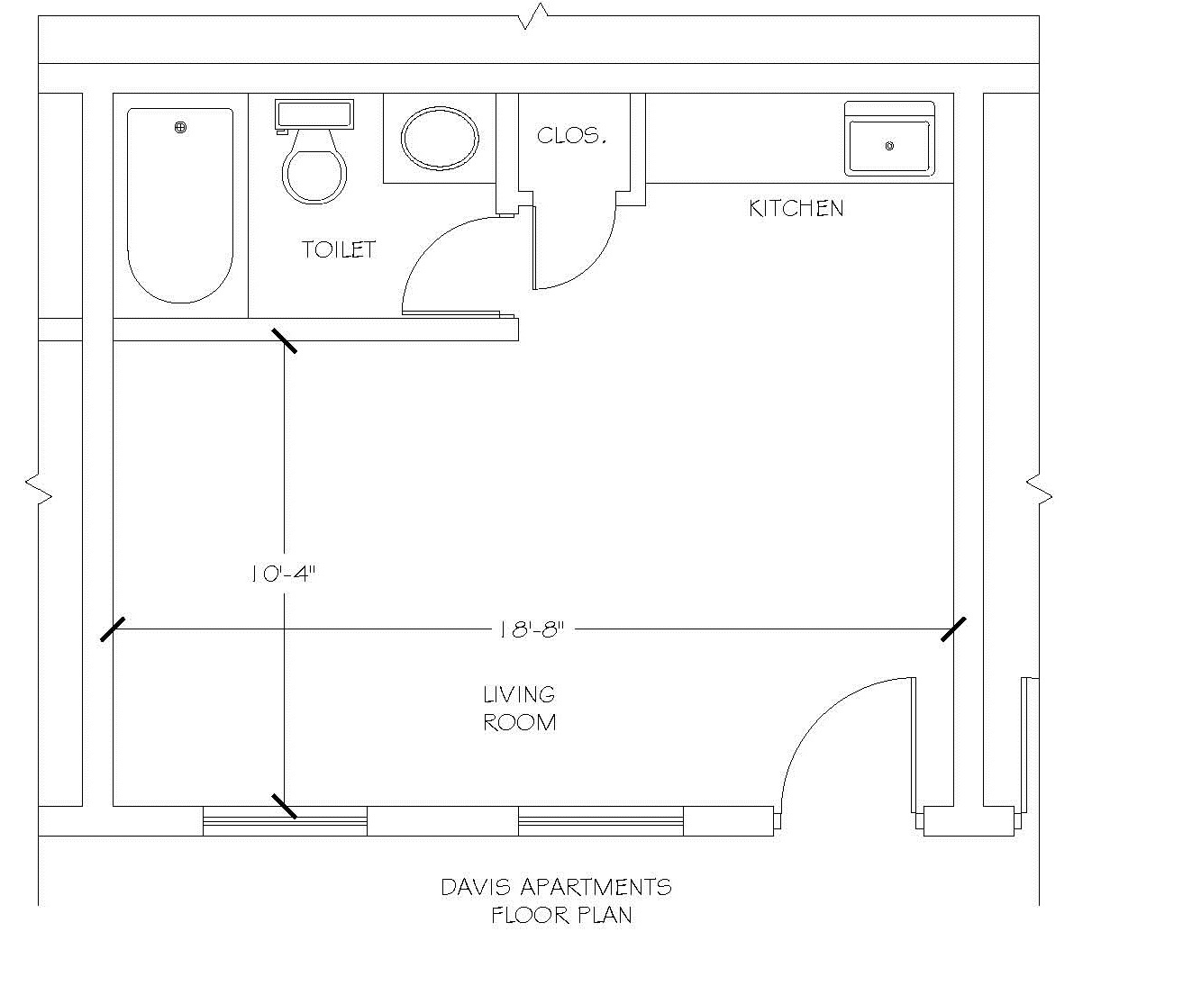 Davis apartment room floorplan