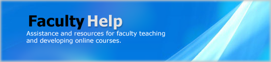 Faculty Help for Online Courses