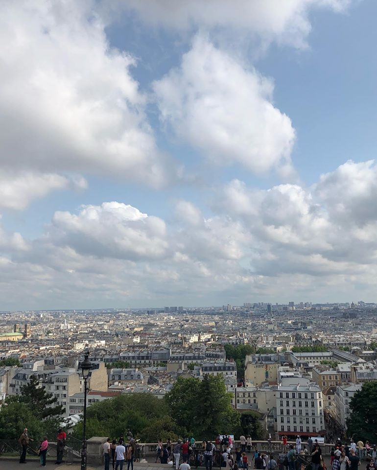 skyline view from the top of monmartre