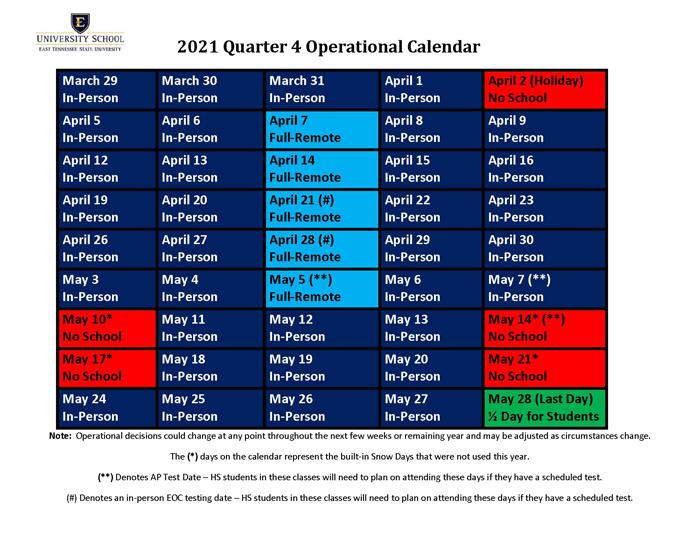 Quarter 4 Calendar