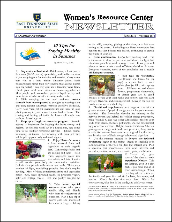 June 2016 cover page of WRC Newsletter